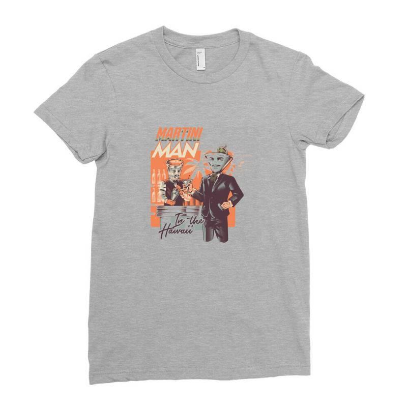 Martini Man Ladies Fitted T-shirt | Artistshot