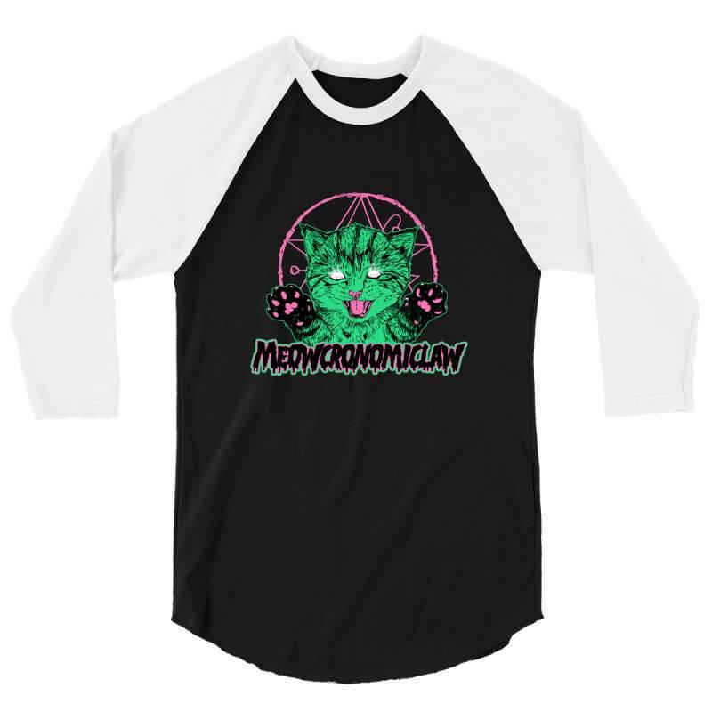 Meowcronomiclaw 3/4 Sleeve Shirt   Artistshot