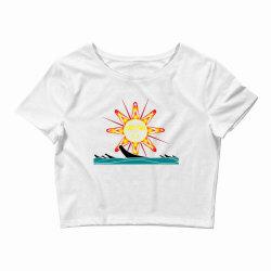 squaxin's salish sun classic t shirt Crop Top | Artistshot