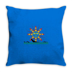 squaxin's salish sun classic t shirt Throw Pillow | Artistshot