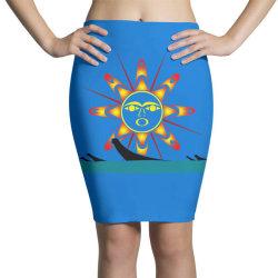squaxin's salish sun classic t shirt Pencil Skirts | Artistshot