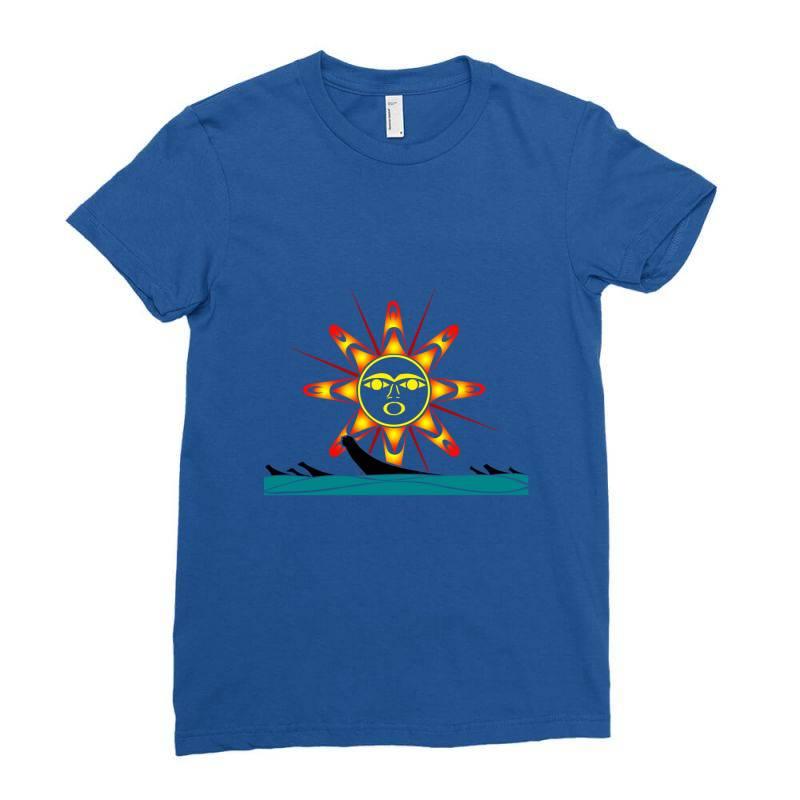 Squaxin's Salish Sun Classic T Shirt Ladies Fitted T-shirt | Artistshot