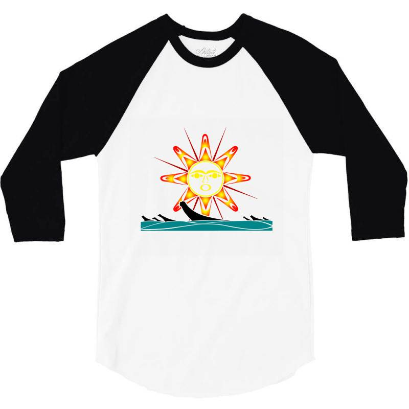 Squaxin's Salish Sun Classic T Shirt 3/4 Sleeve Shirt   Artistshot