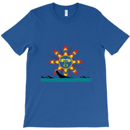 Squaxin's Salish Sun Classic T Shirt T-shirt Designed By Coolstars