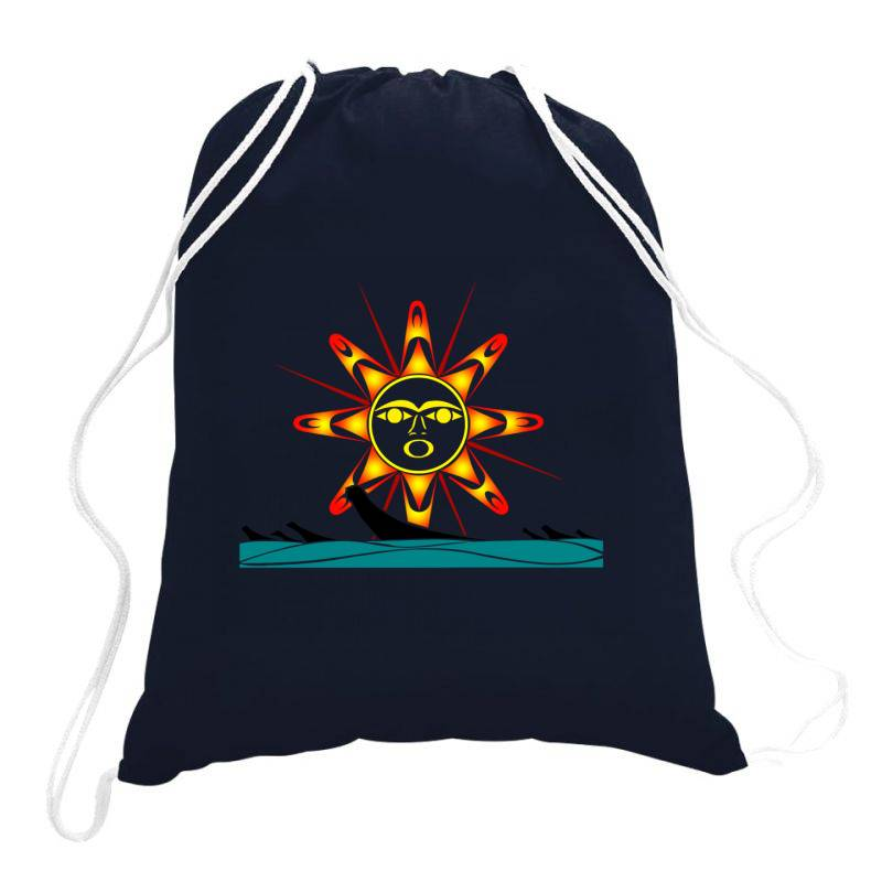 Squaxin's Salish Sun Classic T Shirt Drawstring Bags | Artistshot