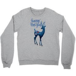 white christmas reindeer for new year Crewneck Sweatshirt | Artistshot