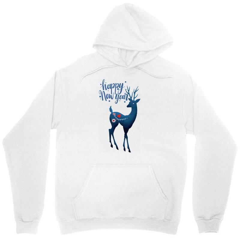 White Christmas Reindeer For New Year Unisex Hoodie | Artistshot