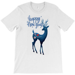 white christmas reindeer for new year T-Shirt | Artistshot