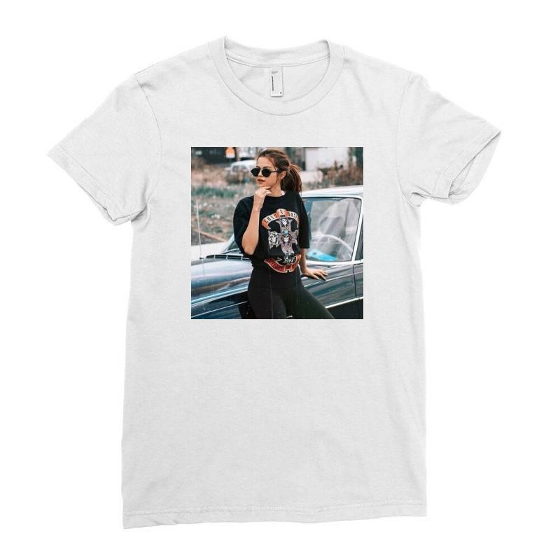 Cool Selena Print Tshirt Ladies Fitted T-shirt | Artistshot