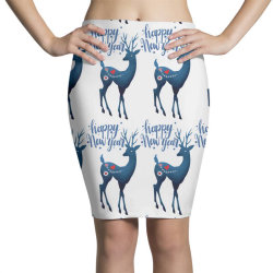 white christmas reindeer for new year Pencil Skirts | Artistshot