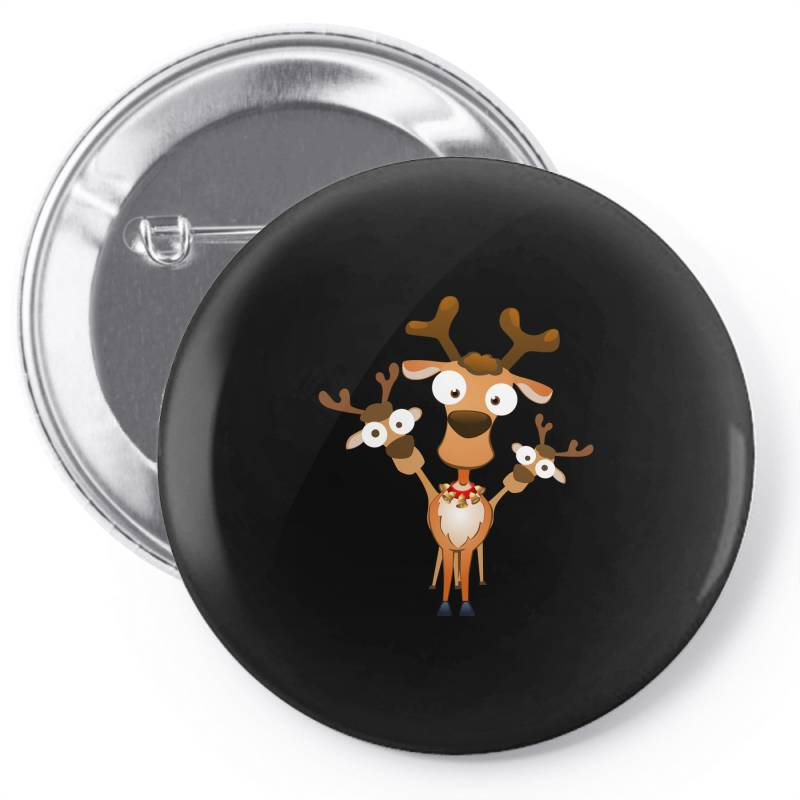 Reindeer Deer Fawn For Christmas Pin-back Button | Artistshot
