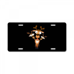reindeer deer fawn for christmas License Plate | Artistshot