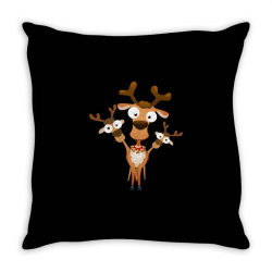 reindeer deer fawn for christmas Throw Pillow | Artistshot