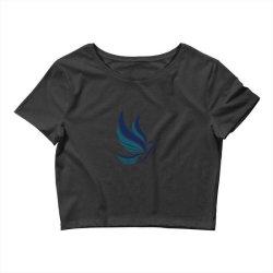 Simple flying bird design Crop Top   Artistshot