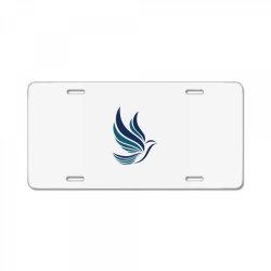 Simple flying bird design License Plate | Artistshot