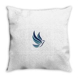 Simple flying bird design Throw Pillow | Artistshot