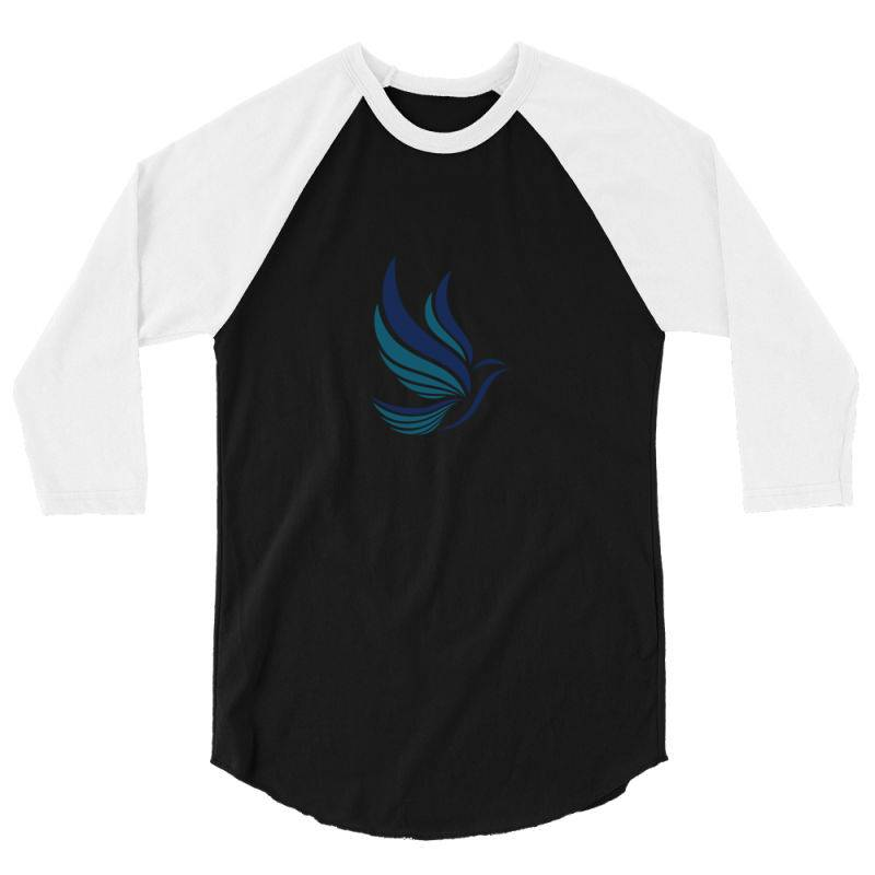 Simple Flying Bird Design 3/4 Sleeve Shirt | Artistshot