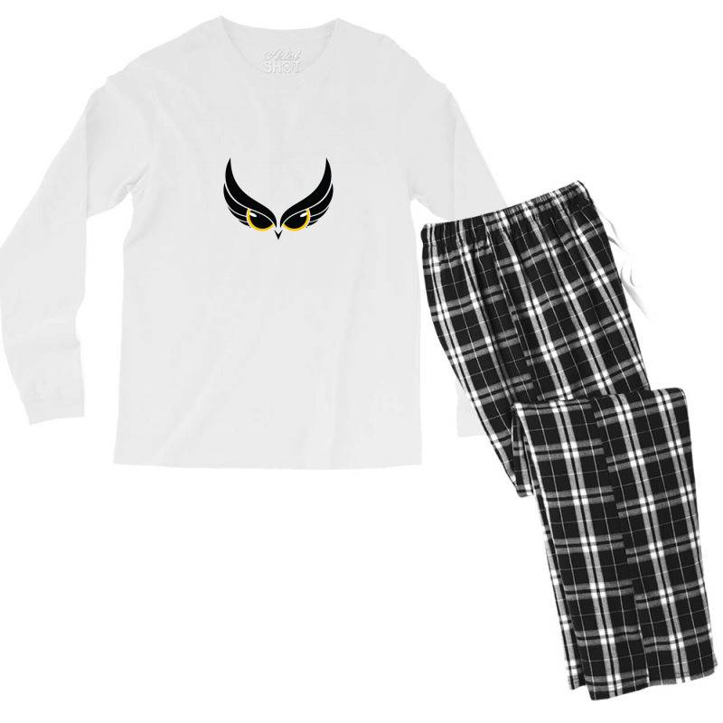 Owl Eye Men's Long Sleeve Pajama Set | Artistshot