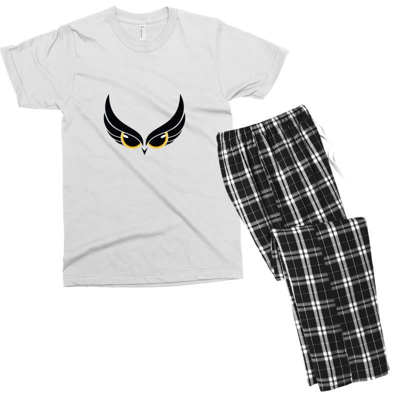 Owl Eye Men's T-shirt Pajama Set | Artistshot