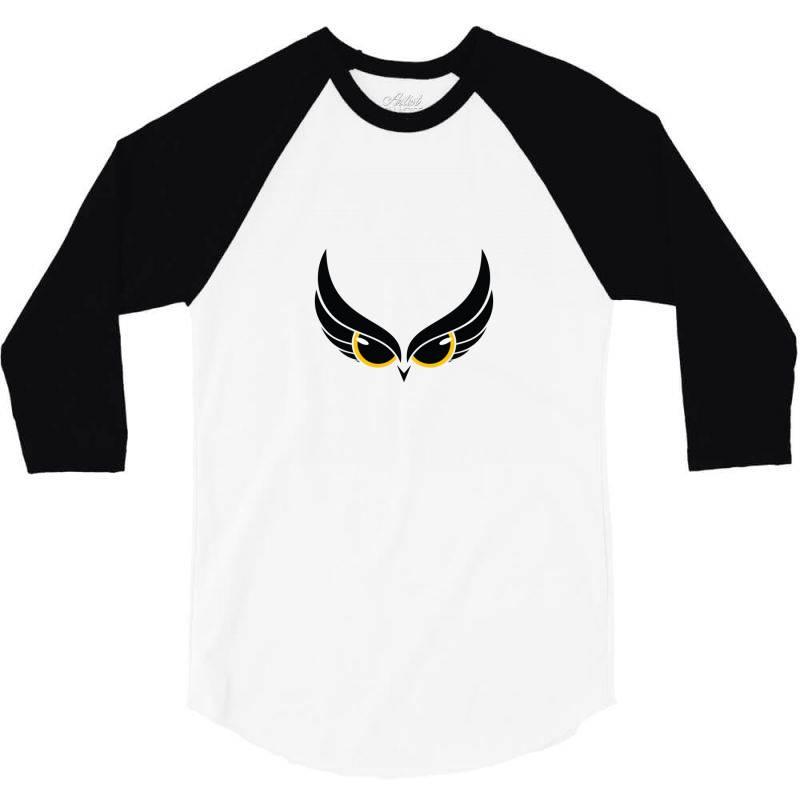 Owl Eye 3/4 Sleeve Shirt | Artistshot