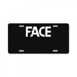 face License Plate | Artistshot