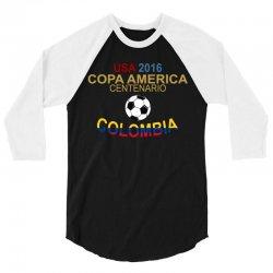Copa America Centenario 2016 COLOMBIA 3/4 Sleeve Shirt   Artistshot