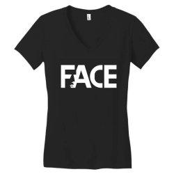face Women's V-Neck T-Shirt | Artistshot