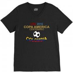 Copa America Centenario 2016 COLOMBIA V-Neck Tee   Artistshot