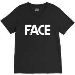 face V-Neck Tee   Artistshot