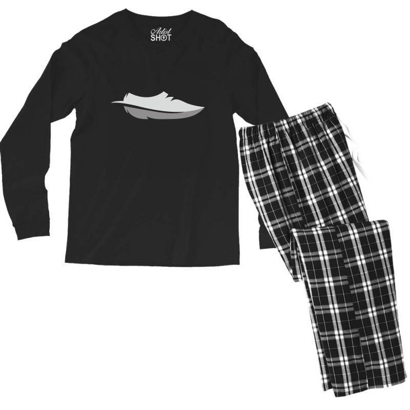 Feather Shoes Men's Long Sleeve Pajama Set | Artistshot