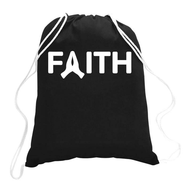 Faith Drawstring Bags | Artistshot