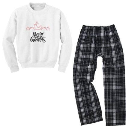 Merry Christmas With Santa's Sledge Youth Sweatshirt Pajama Set Designed By Abhishekkewate