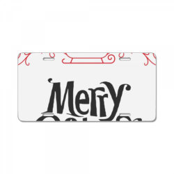 Merry Christmas With Santa's Sledge License Plate | Artistshot