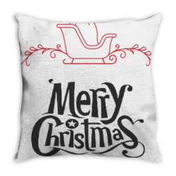 Merry Christmas With Santa's Sledge Throw Pillow | Artistshot