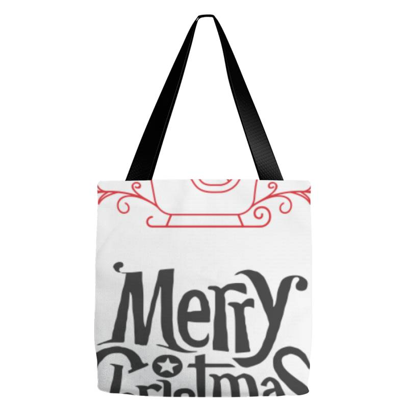 Merry Christmas With Santa's Sledge Tote Bags | Artistshot