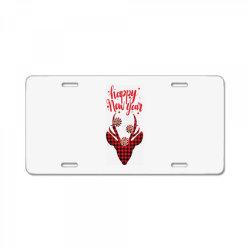 plaid design for new year License Plate | Artistshot
