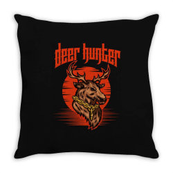 Deer hunter Throw Pillow | Artistshot