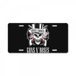 Guns N'Roses, skull License Plate | Artistshot