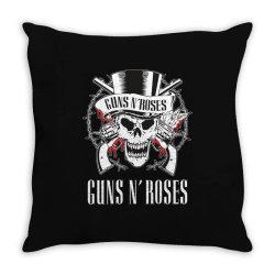 Guns N'Roses, skull Throw Pillow | Artistshot