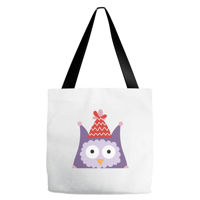 Pink Owl Purple For Christmas Tote Bags | Artistshot
