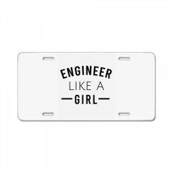Engineer like a girl License Plate | Artistshot