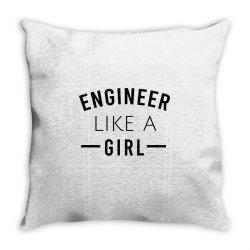 Engineer like a girl Throw Pillow | Artistshot
