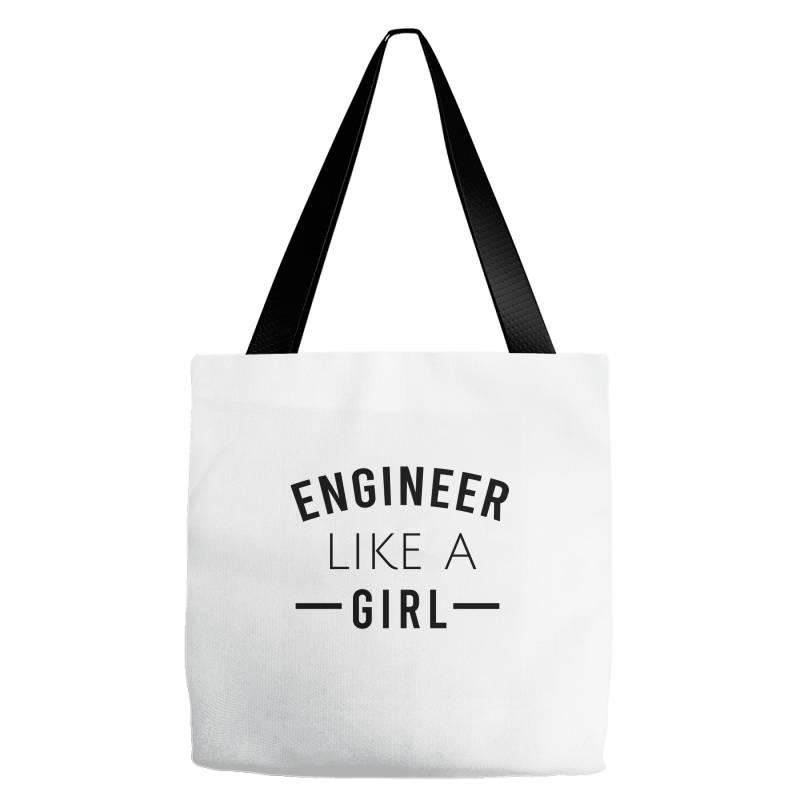 Engineer Like A Girl Tote Bags | Artistshot