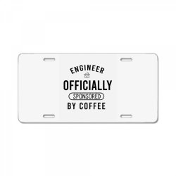 Engineer officially sponsored by coffee License Plate | Artistshot