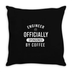 Engineer officially sponsored by coffee Throw Pillow | Artistshot