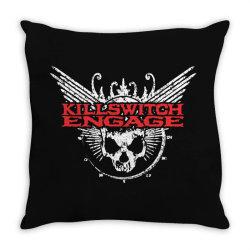 Kill switch engage, skull Throw Pillow   Artistshot