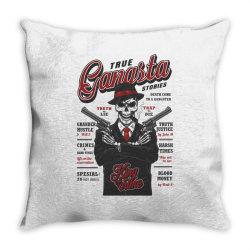 True gangsta stories, skull Throw Pillow | Artistshot