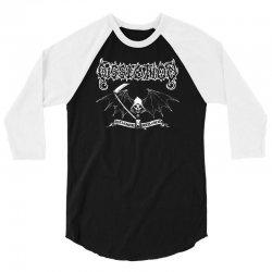 dissection band  logo skull 3/4 Sleeve Shirt | Artistshot