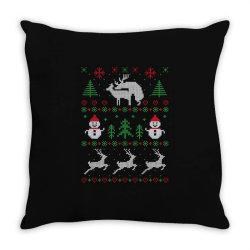humping deers christmas Throw Pillow   Artistshot