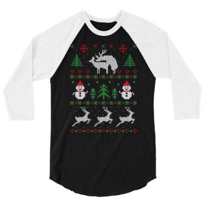 Humping Deers Christmas 3/4 Sleeve Shirt Designed By Koopshawneen